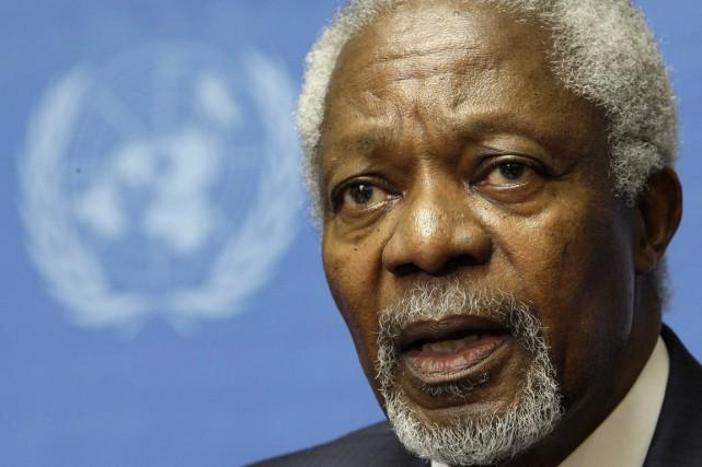 Kofi Annan... (Photo : Valentin Flauraud, Reuters)