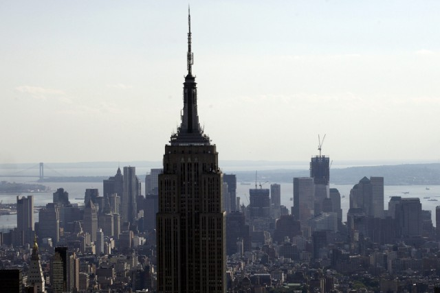 En dépit du ralentissement de l'indice Empire State en avril,... (Photo Mark Lennihan, archives AP)