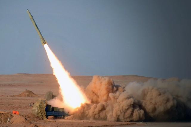 Un missile à courte portée, Fareh, est testé... (Photo archives AFP)