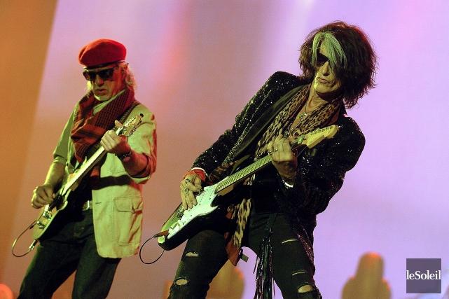 Aerosmith lors d'un spectacle à Québec dans le... (Photo Jean-Marie Villeneuve, archives Le Soleil)