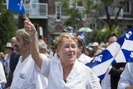 Pauline Marois lors du récent défilé de la... (Photo: Olivier Pontbriand, La Presse)