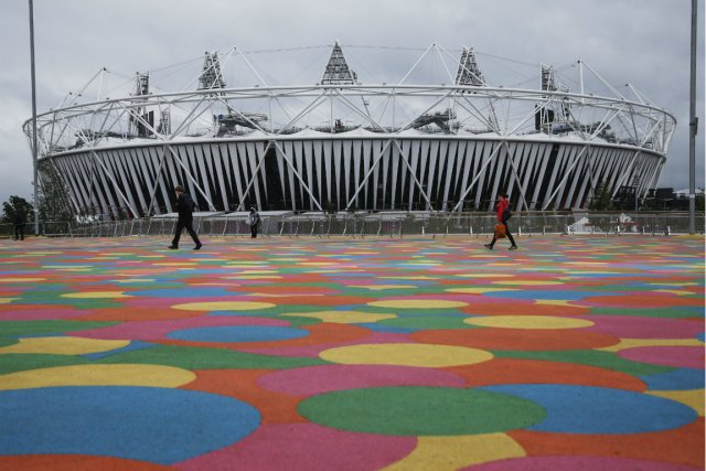 Le stade olympique de Londres.... (Photo Jae Hong, AP)