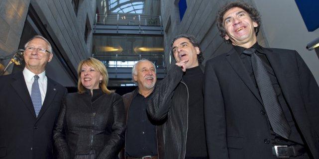 Le maire de Montréal, Gérald Tremblay, la ministre... (Alain Roberge, La Presse)
