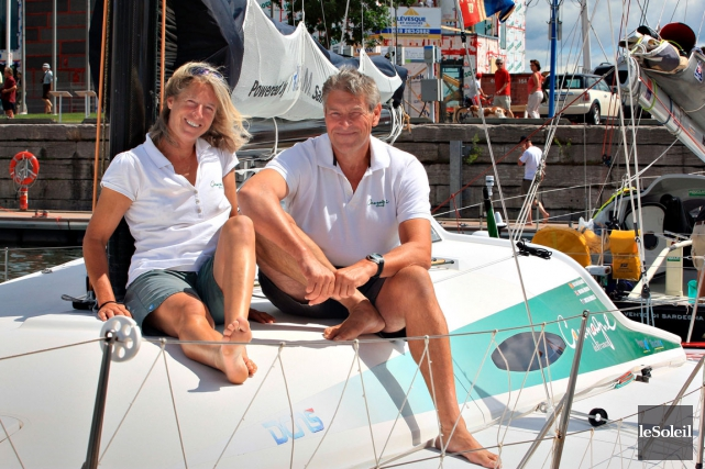 Miranda Merron et l'expérimenté skipper Halvard Mabire.... (Photothèque Le Soleil, Pascal Ratthé)