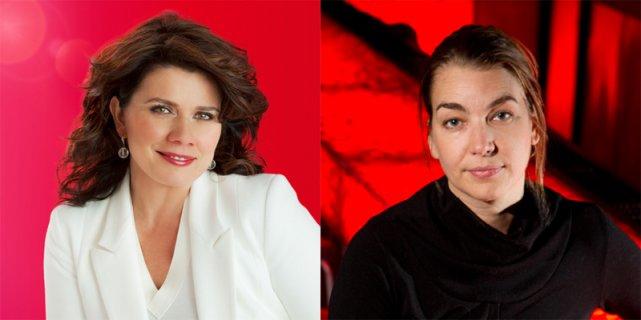 La comédienne Marina Orsini et la productrice Kim... (Archives La Presse)