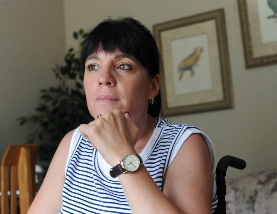Ginette Leblanc est atteinte d'une maladie dégénérative incurable.... (Photo: Sylvain Mayer)