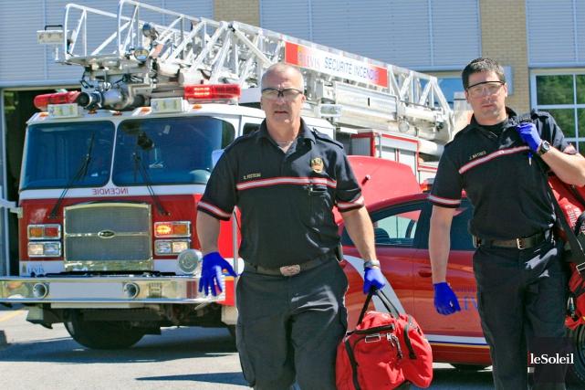 Les pompiers de Lévis bénéficieront d'un nouveau système... (Le Soleil, Pascal Ratthé)