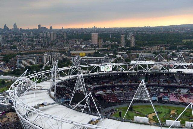 Le Stade olympique de Stratford quelques heures avant... (Photo Alberto Pizzoli, AFP)