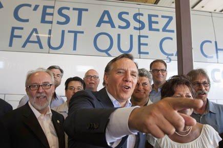 François Legault y est allé de critiques acerbes... (Photo: PC)