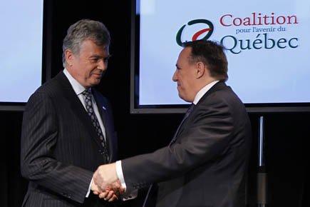François Legault à créé la CAQ avec Charles... (Photo: Reuters)
