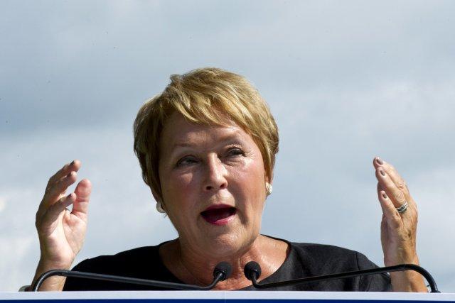La chef du Parti québécois, Pauline Marois.... (Photo: Paul Chiasson, PC)