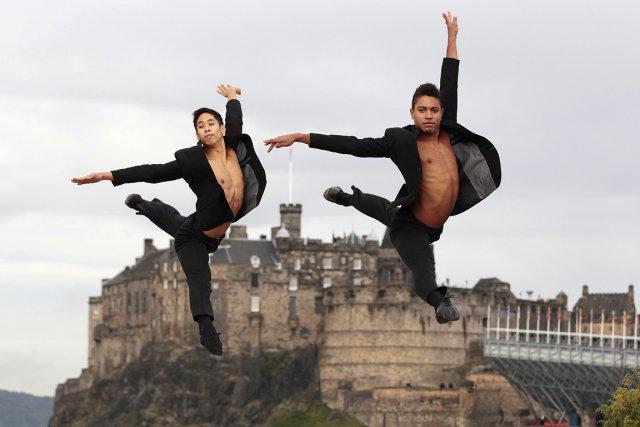 Les danseurs Alexei Geronimo et Lee Gumbs ont... (Photo: Reuters)