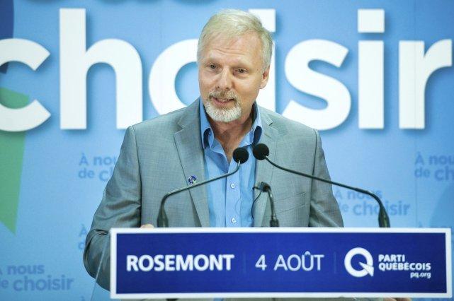 Jean François Lisée, candidat du Parti québécois dans... (PHOTO GRAHAM HUGHES, LA PRESSE CANADIENNE)
