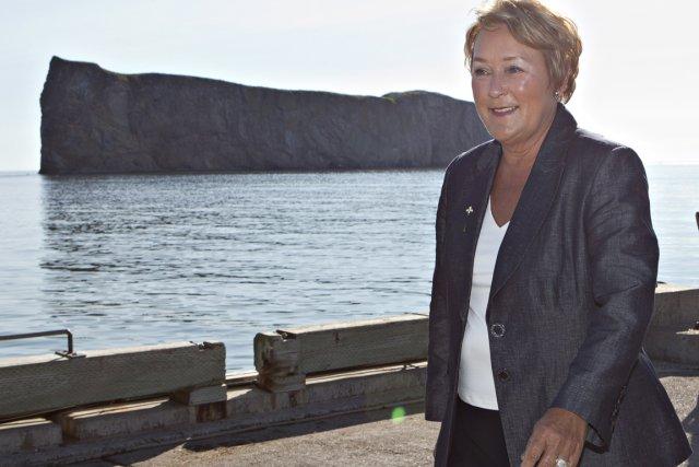 Pauline Marois à Percé.... (Photo PC)