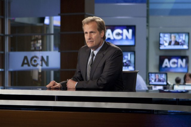 Jeff Daniels dans The Newsroom.... (Photo: fournie par HBO)