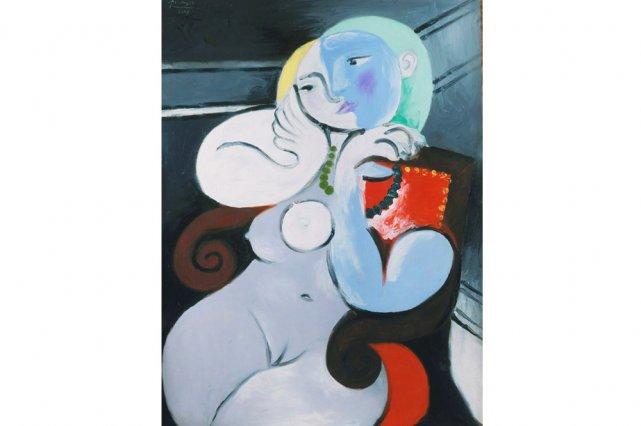 Femme nue dans un fauteuil rouge de Picasso... (Photo: site internet National Galleries of Scotland)