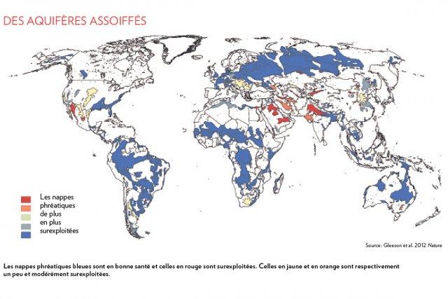 Les nappes phréatiques du monde sont exploitées 3,5 fois plus rapidement...