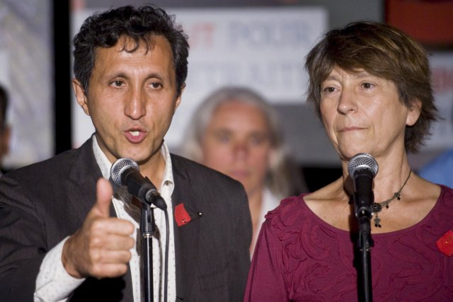 Amir Khadir et Françoise David... (Photo La Presse Canadienne)
