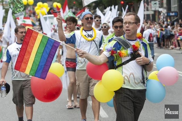 Défilé de la fierté gaie à Montréal.... (Photo: Robert Skinner, archives La Presse)