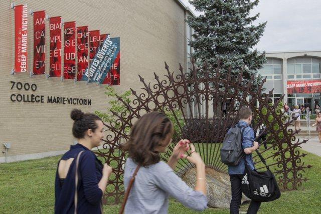 Les élèves du cégep Marie-Victorin sont retournés en... (Photo: Édouard Plante-Fréchette, La Presse)