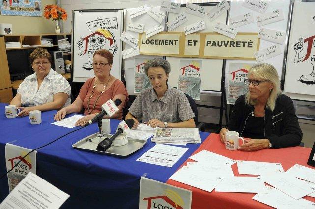 La coordonnatrice de l'organisme communautaire Loge m'entraide, Sonia Côté,... (Rocket Lavoie)