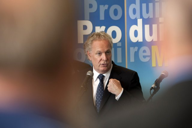 Jean Charest, chef du Parti libéral du Québec.... (Photo: David Boily, La Presse)