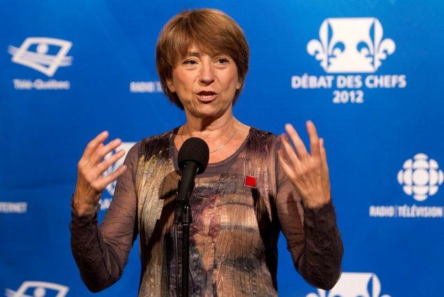 Françoise David... (ROBERT SKINNER, LA PRESSE)