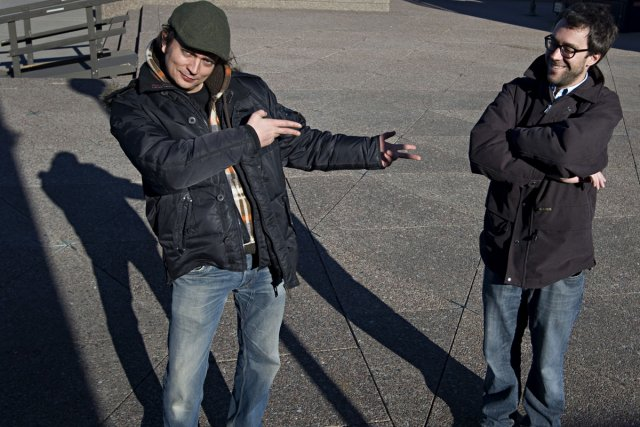 Jean-François Rivard (à gauche) et François Létourneau (à... (Photo: Ivanoh Demers, archives La Presse)