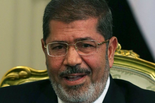 Il s'agira du premier voyage du président égyptienMohammed... (PHOTO AFP)
