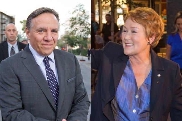 François Legault et Pauline Marois à leur arrivée... (Photos: Édouard Plante-Fréchette, La Presse)