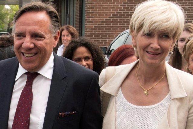 François Legaut et son épouse, Isabelle Brais, lundi... (La Presse Canadienne)