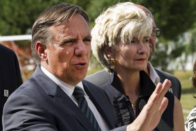 François Legault a donné un point de presse... (Photo: PC)