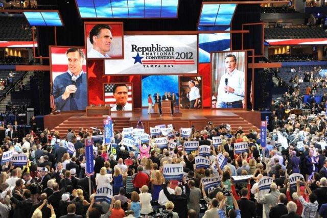 Mitt Romney a gagné mardi à la convention républicaine son passeport pour la... (Photo: AFP)