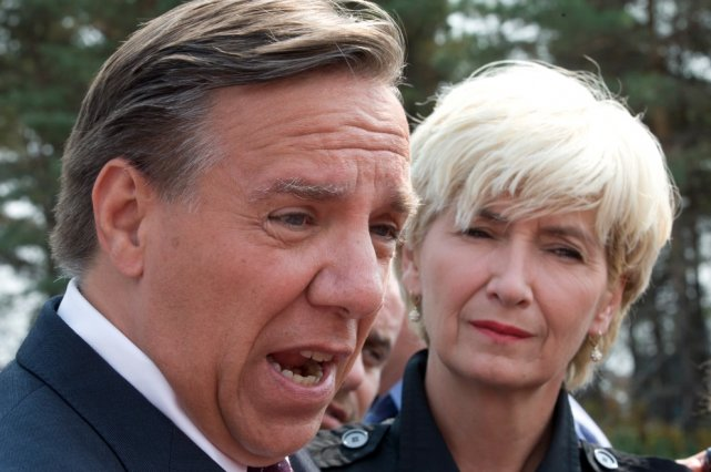 François Legault (photo) n'a pas tardé vendredi matin... (La Presse Canadienne)