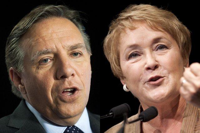 François Legault et Pauline Marois... (Photo: PC)