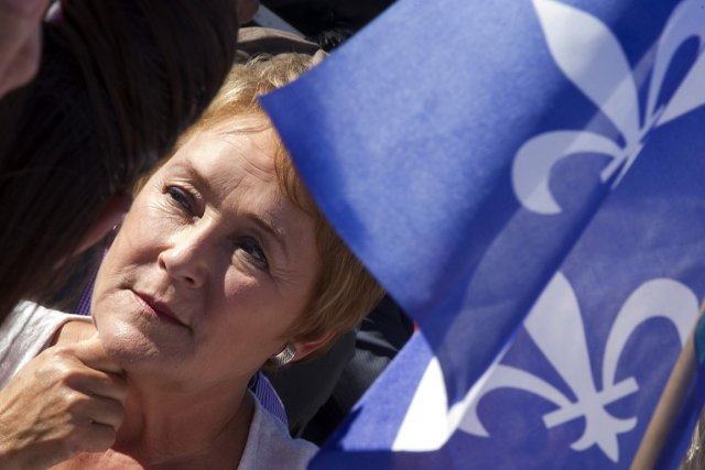 Pauline Marois, lors de son passage à Châteauguay.... (Photo: Reuters)