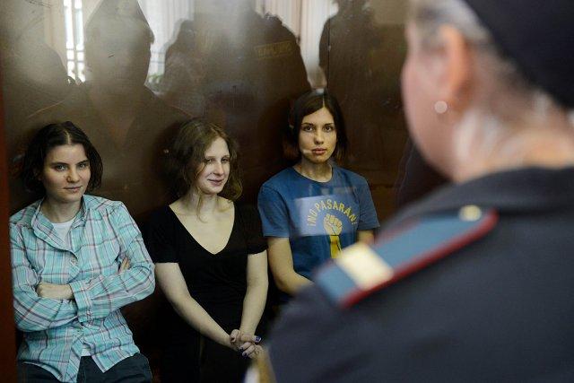 Trois des membres des Pussy Riot ont été... (Photo: archives AFP)