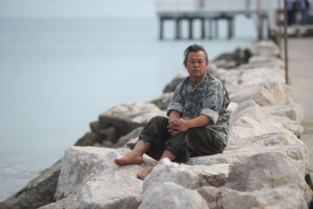 Le réalisateur sud-coréen Kim Ki-dukà Venise.... (Photo Tiziana Fabi, AFP)