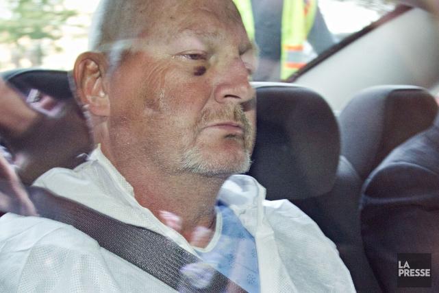 Richard Henry Bain quelques jours après son arrestation.... (Archives La Presse, Patrick Sanfaçon)