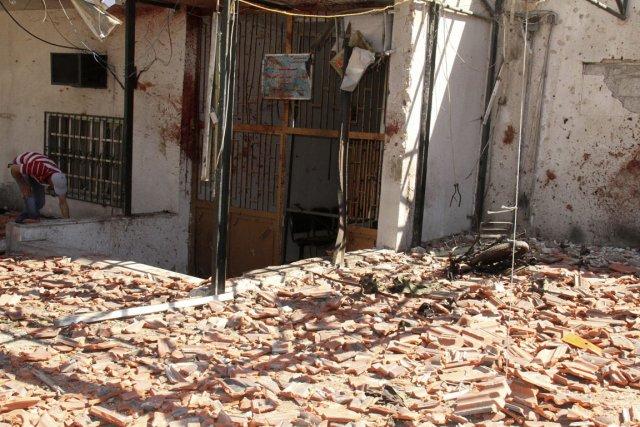 À Damas, une motocyclette piégée est à l'origine... (Photo : AP)