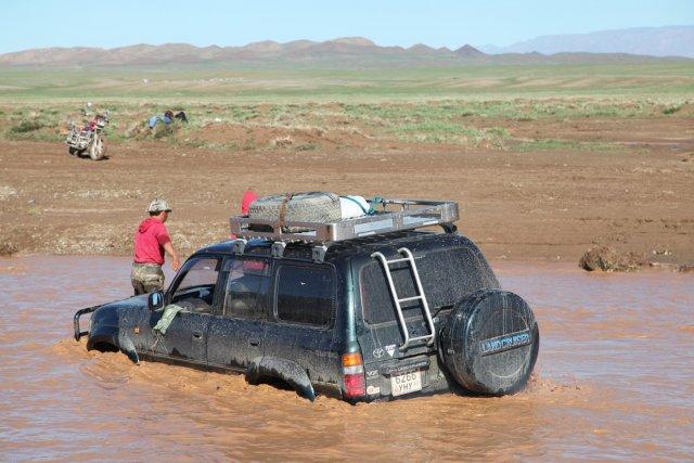 En plein désert, la pluie a des effets... (Photo: Michèle Leclerc, collaboration spéciale)