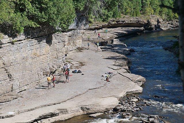 Le secteur des gorges de la rivière Sainte-Anne... (Photo collaboration spéciale Jean-Sébastien Massicotte)