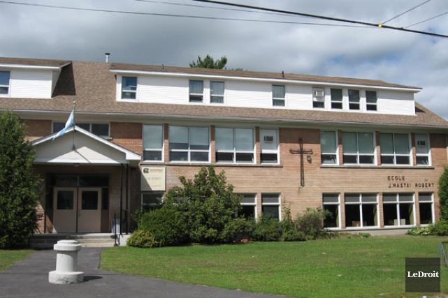 L'école J.M.-Robert, à St-André-Avellin.... (Jessy Laflamme, LeDroit)