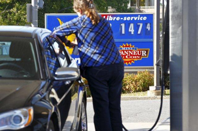 Le prix de l'essence a bondi à 1,474$,... (Le Soleil, Yan Doublet)