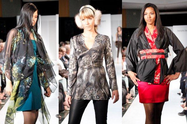 Trois tenues d'Autrefois Saïgon: une tuniques et cardigan... (Photos Ghislain Martineau)
