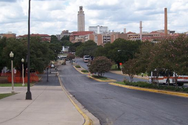 Vue d'ensemble du campus de l'Université du Texas...