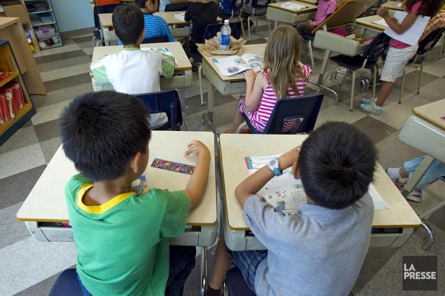 Une vingtaine d'élèves de l'école primaire Saint-Louis-de-Gonzague devront... (Photo: archives La Presse)