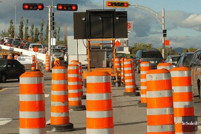 Les travaux routiers auraient un impact psychologique sur... (Photothèque Le Soleil)