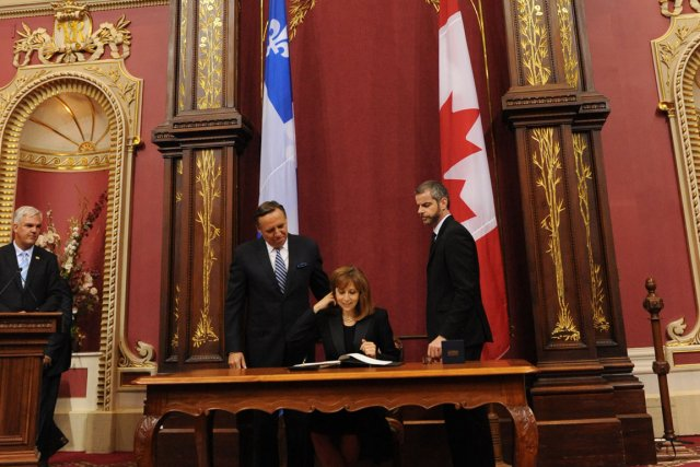 Le gouvernement du Parti québécois réclame que le... (Photo Le Soleil)