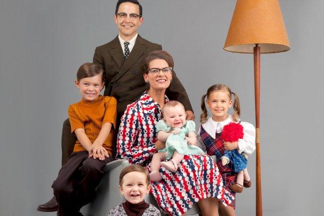 Portrait d'une famille plus traditionnelle...... (Photo PC)